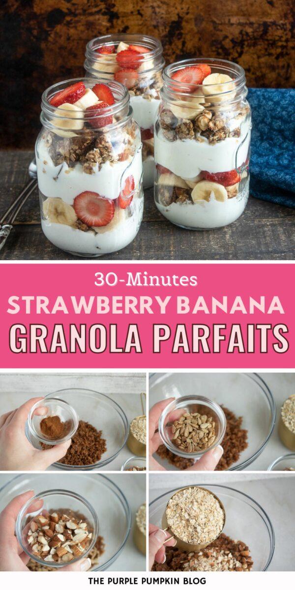 30-Minute Strawberry Banana Granola Parfaits
