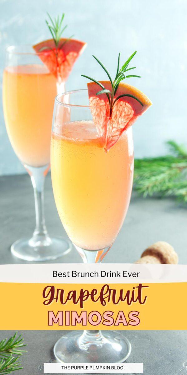 Best Brunch Grapefruit Mimosas