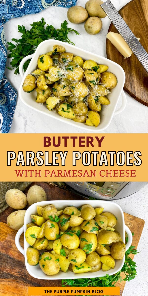 Buttery Parsley Potatoes with Parmesan Cheese