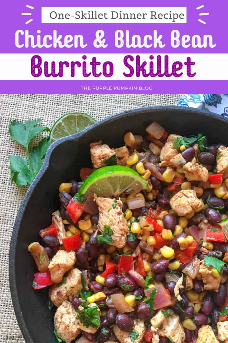 Chicken-Black-Bean-Burrito-Skillet