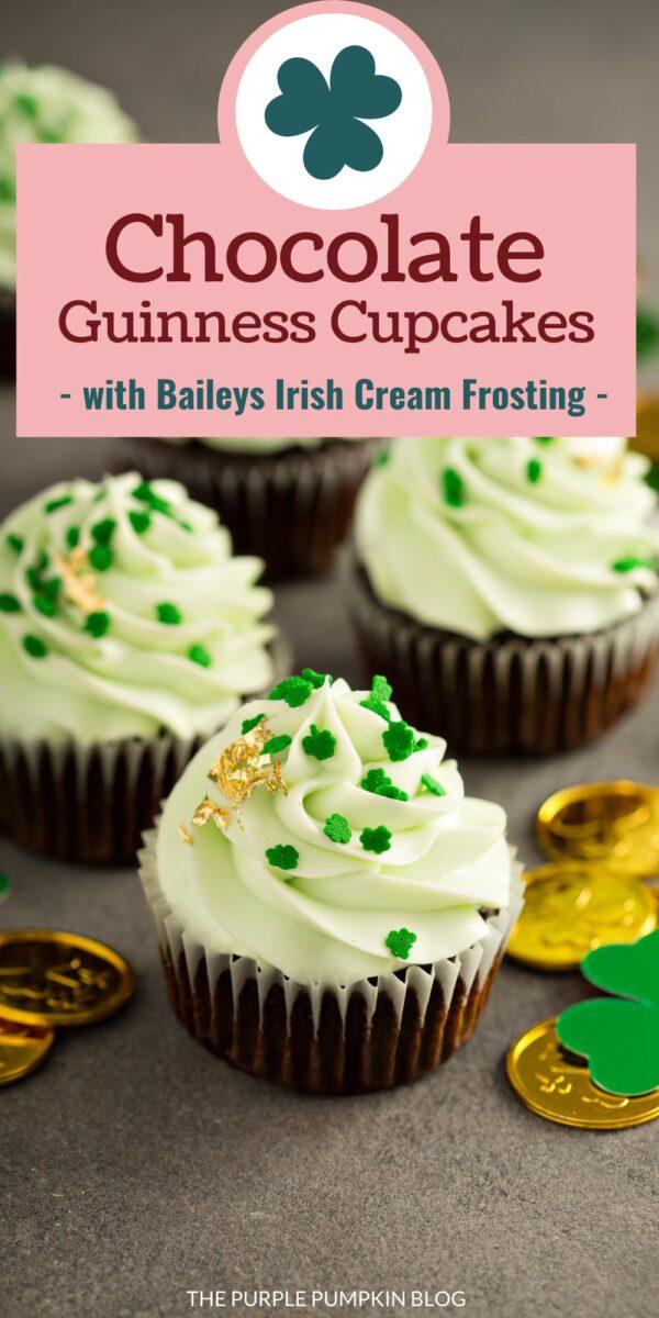 Chocolate Guinness Cupcakes with Baileys Irish Cream Frosting