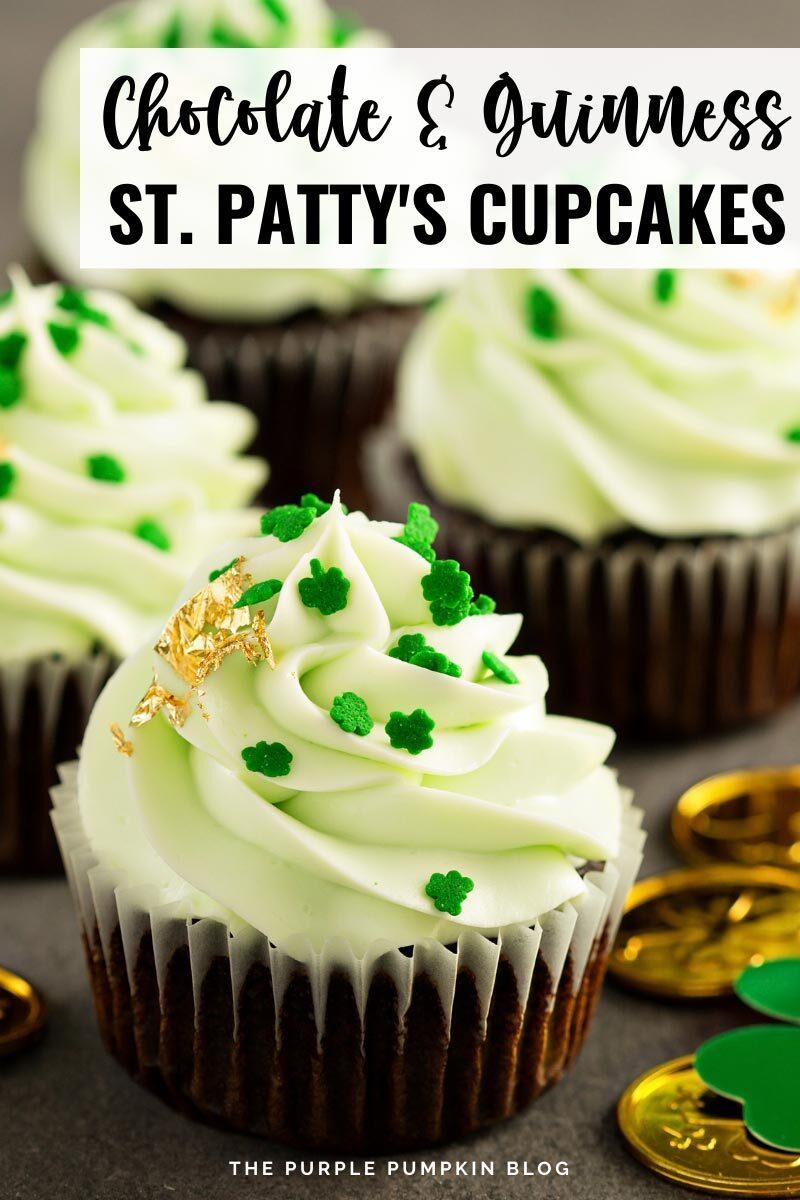 Chocolate & Guinness St. Patty's Cupcakes