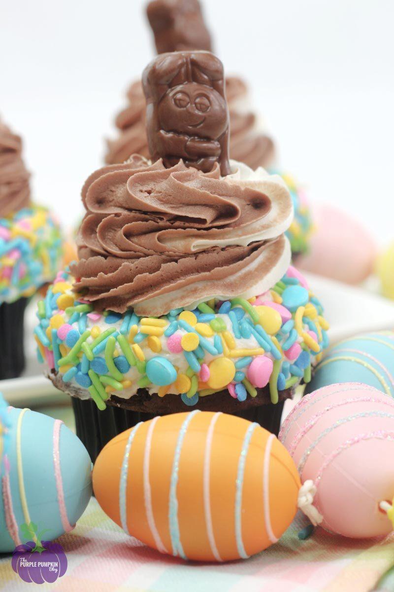 Chocolate Peanut Butter Easter Cupcakes Recipe
