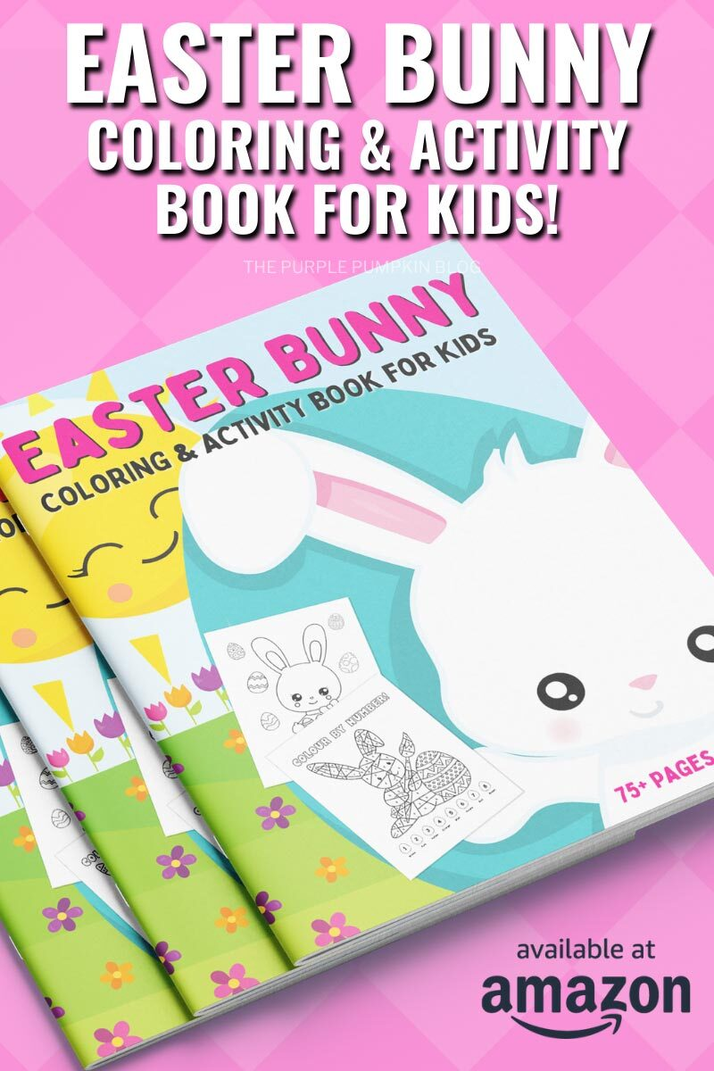 75-Page Easter Bunny Coloring and Activity Book for Kids!