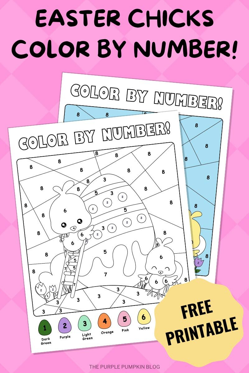 Easter Chicks Color By Numbers Printable