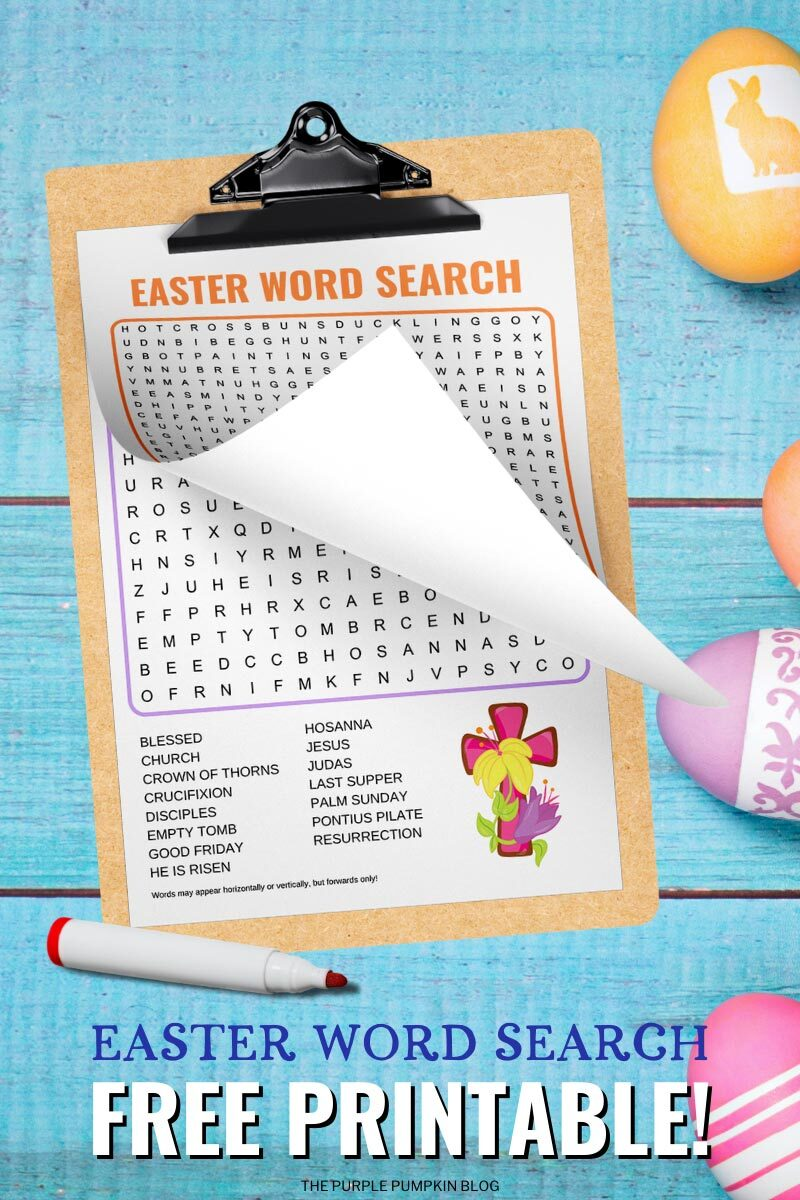 Easter Word Search Free Printable