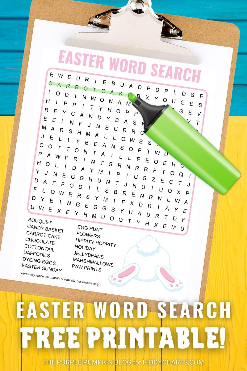 Easter Word Search Printable