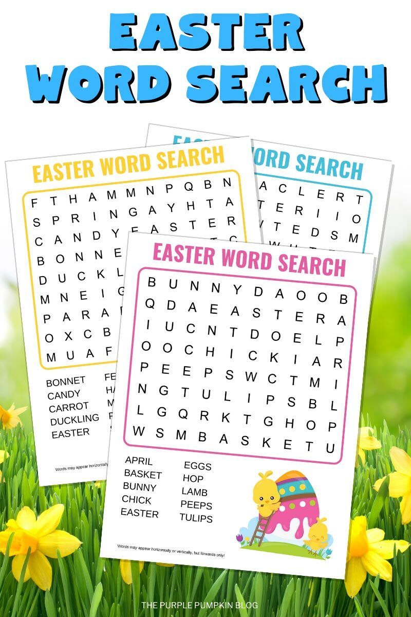 Free Easter Word Search Printable