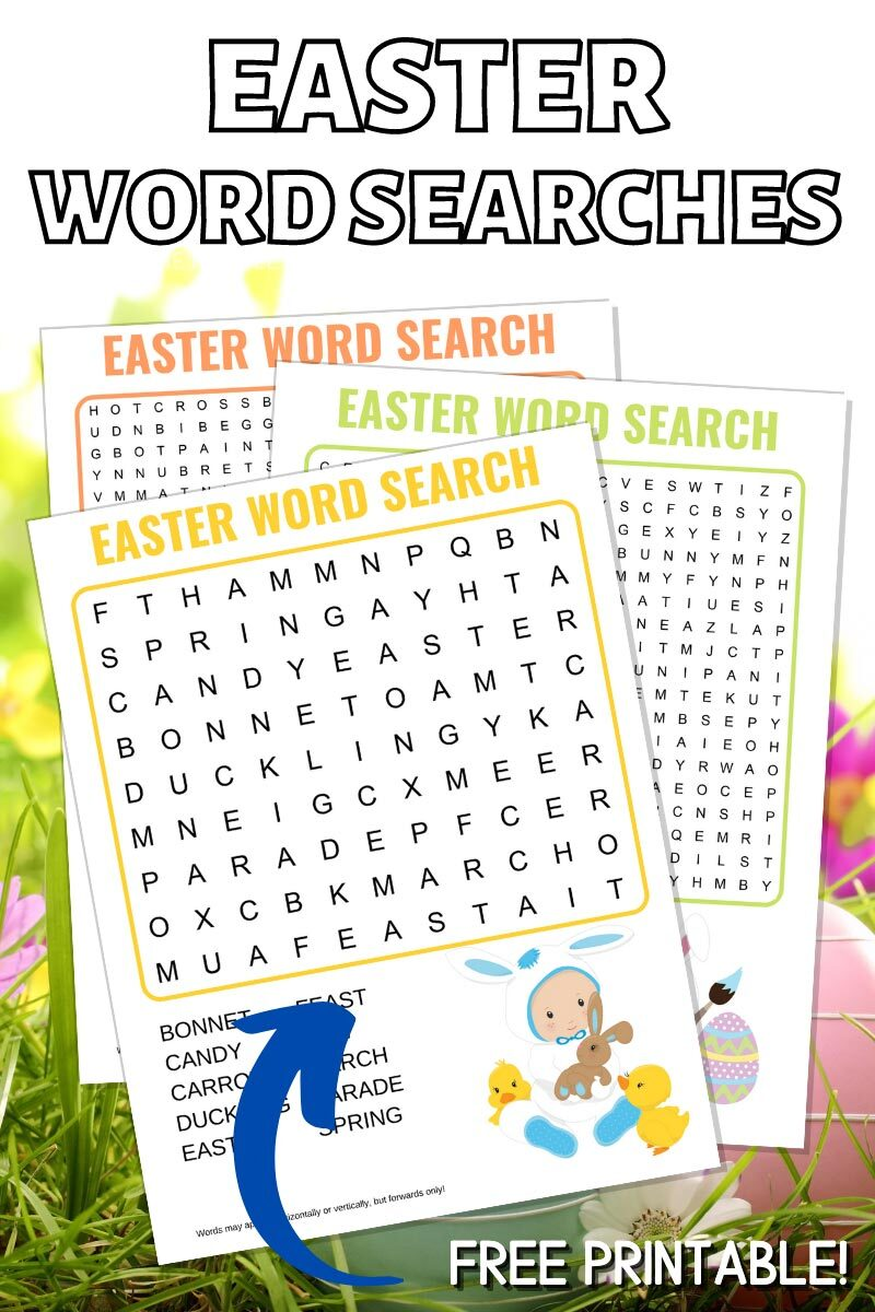 Easter Word Searches Free Printables