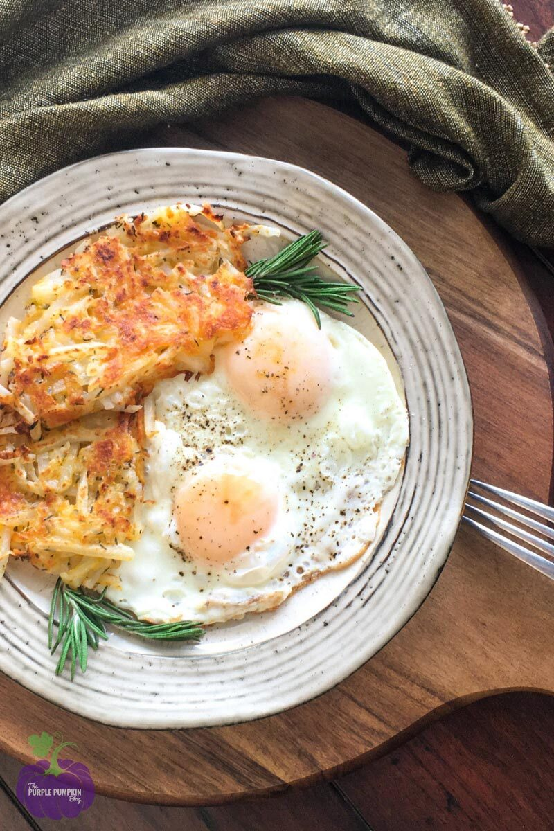 Eggs with Crispy Cheesy Hash Browns