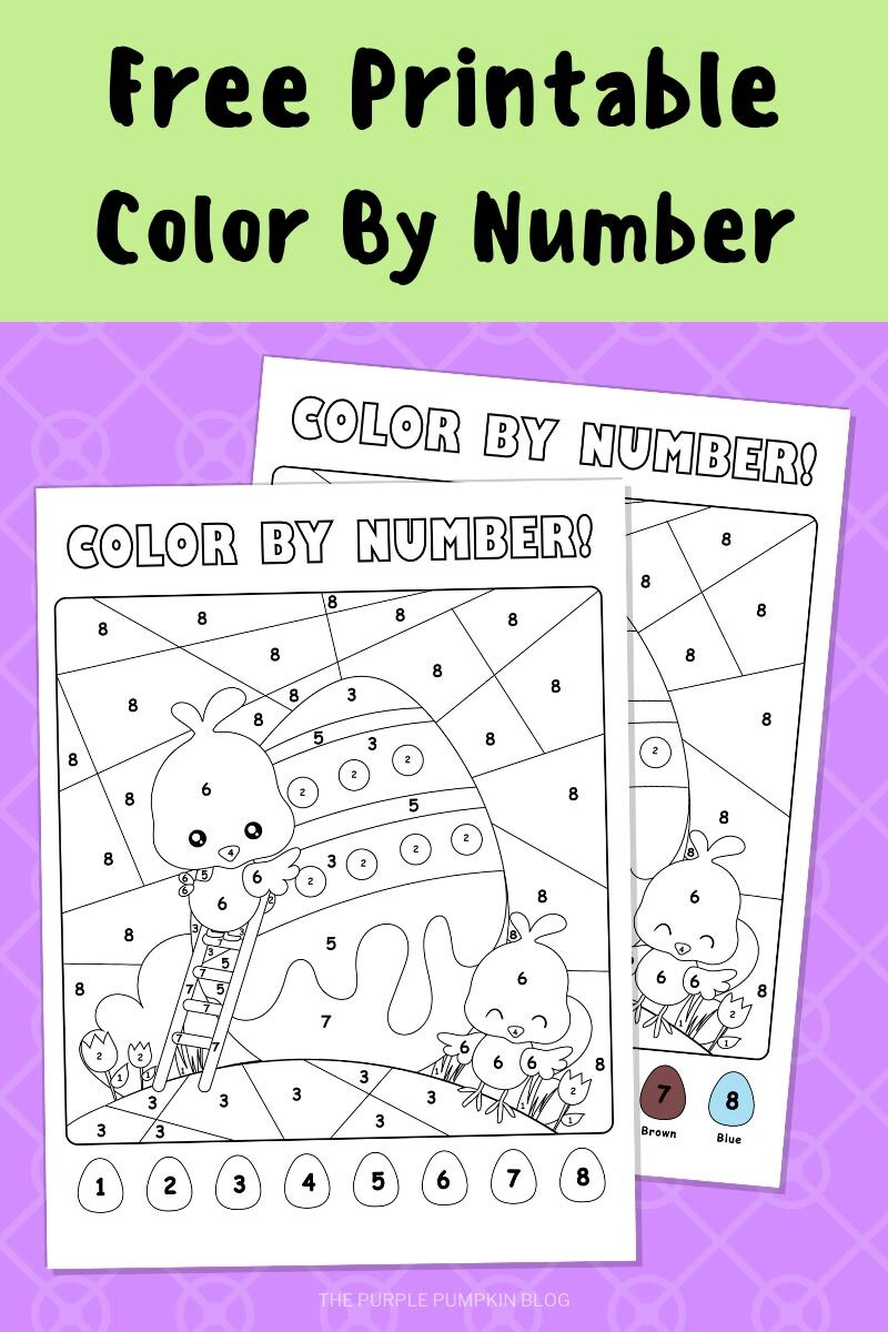 Free Printable Color By Number