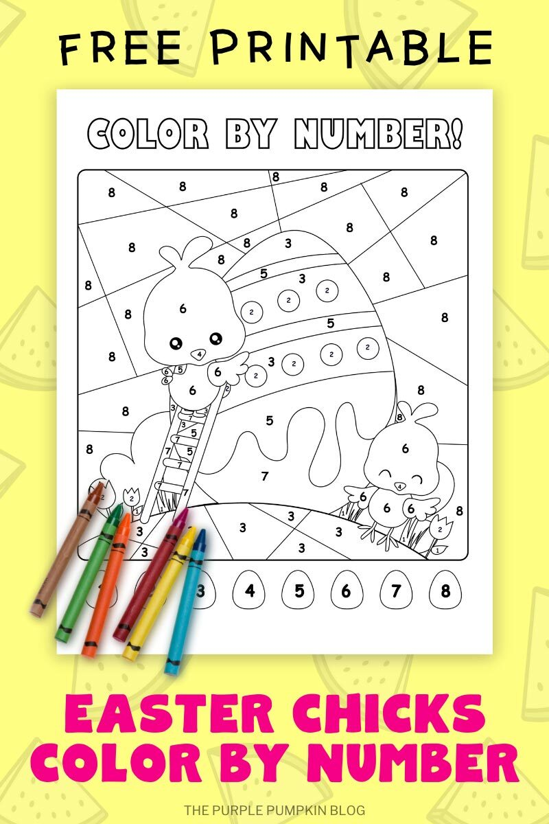 Free Printable Easter Chicks Color By Number