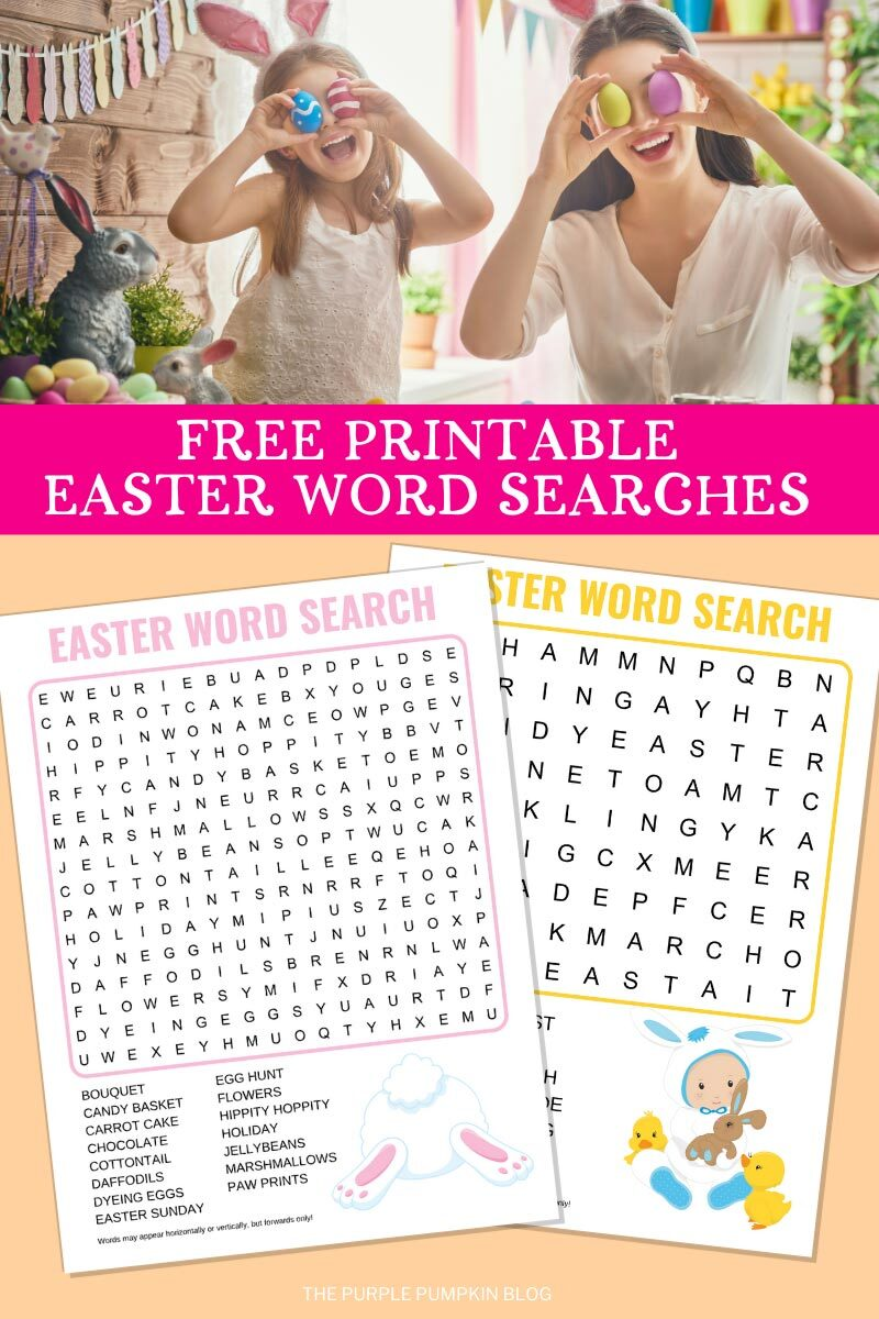 Free Printable Easter Word Searches