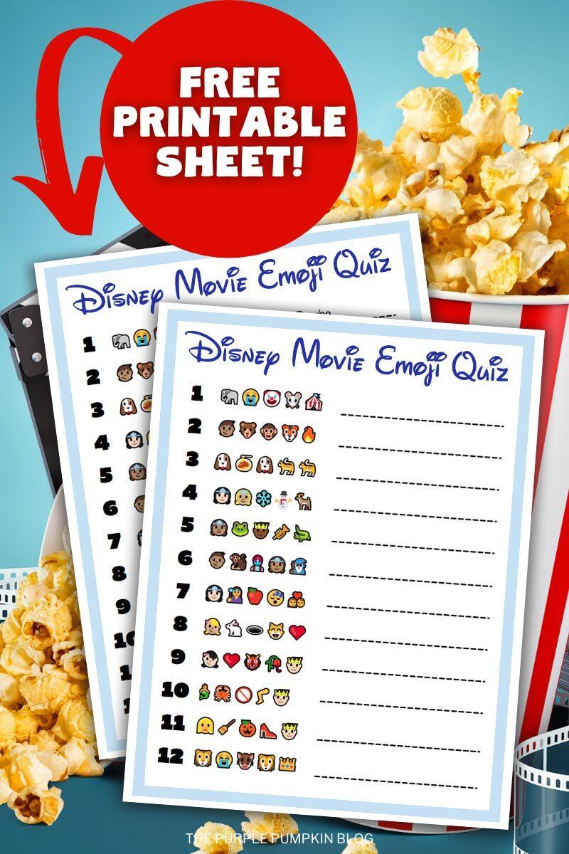 Emoji Quiz - Printable - PurposeGames.com