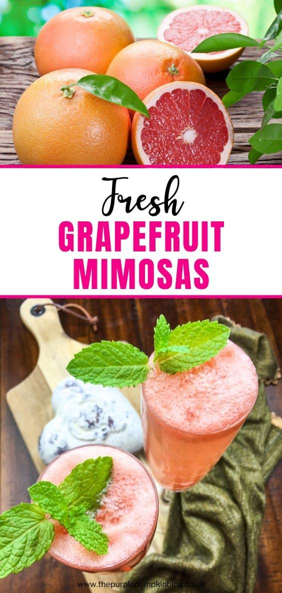 Fresh Grapefruit Mimosas for Brunch