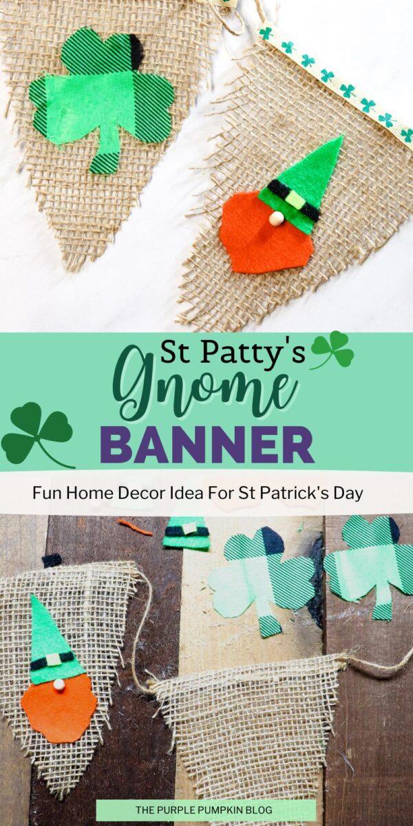 Fun St. Patty's Gnome Banner Craft