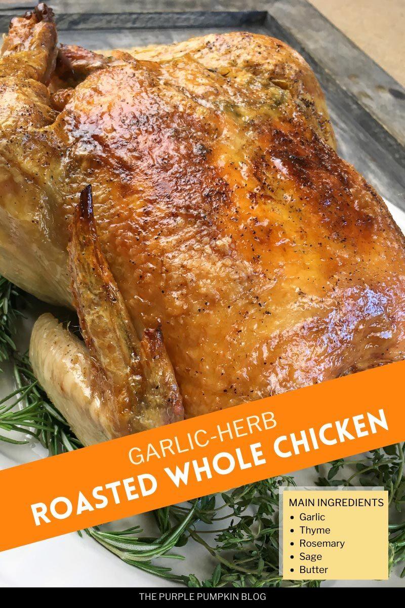 Garlic Herb Roasted Whole Chicken