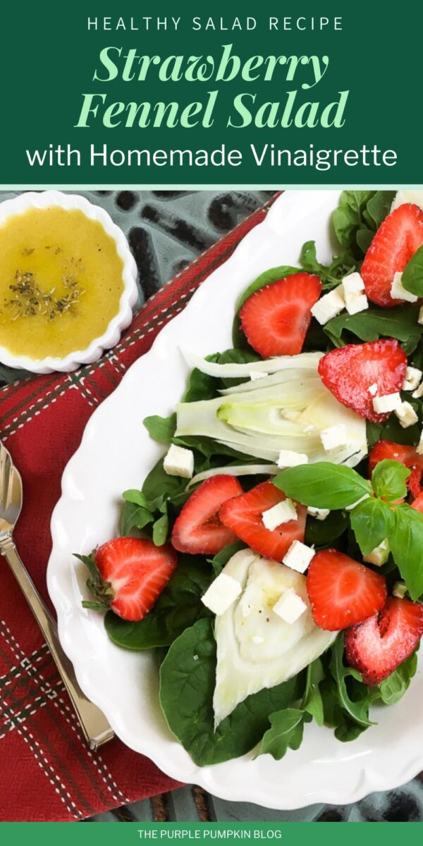 Healthy Strawberry Fennel Salad with Homemade Vinaigrette