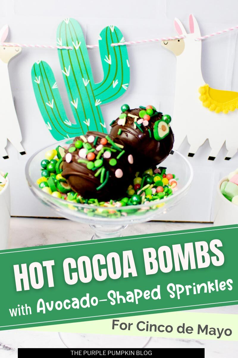 Hot Cocoa Bombs with Avocado-shaped Sprinkles!