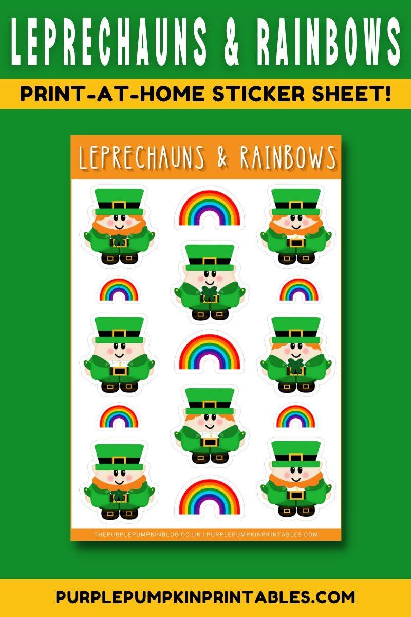 Digital & Printable Leprechaun Stickers for St. Patrick's Day!