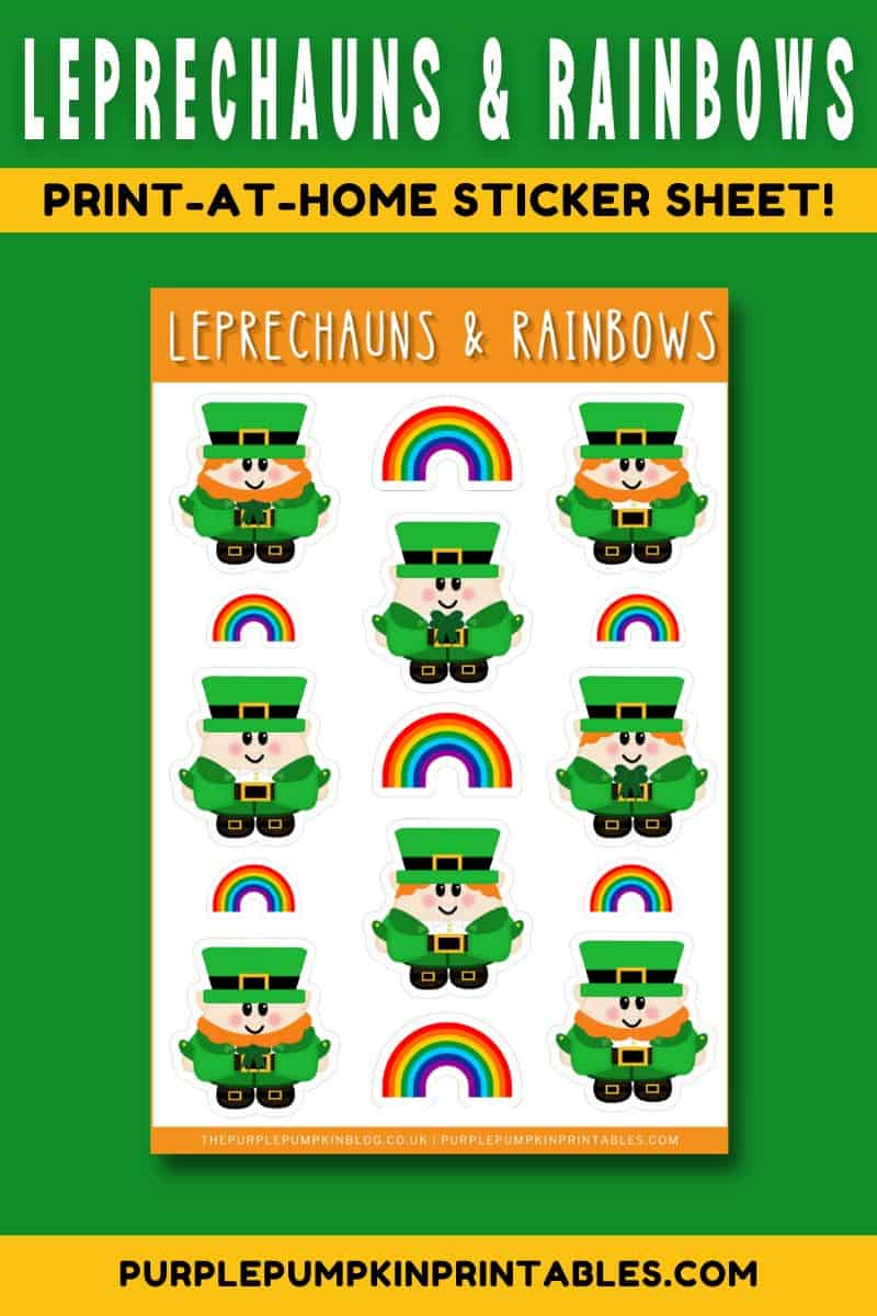 Leprechauns-Rainbows-Stickers