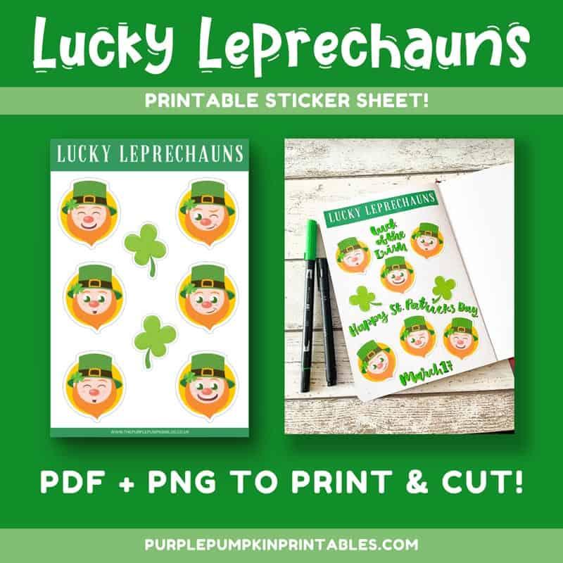 Lucky Leprechauns Printable Sticker Sheet to Print & Cut