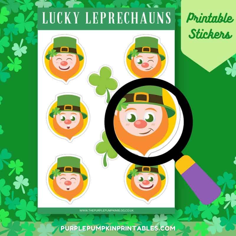 Printable Leprechaun Stickers for St. Patrick's Day