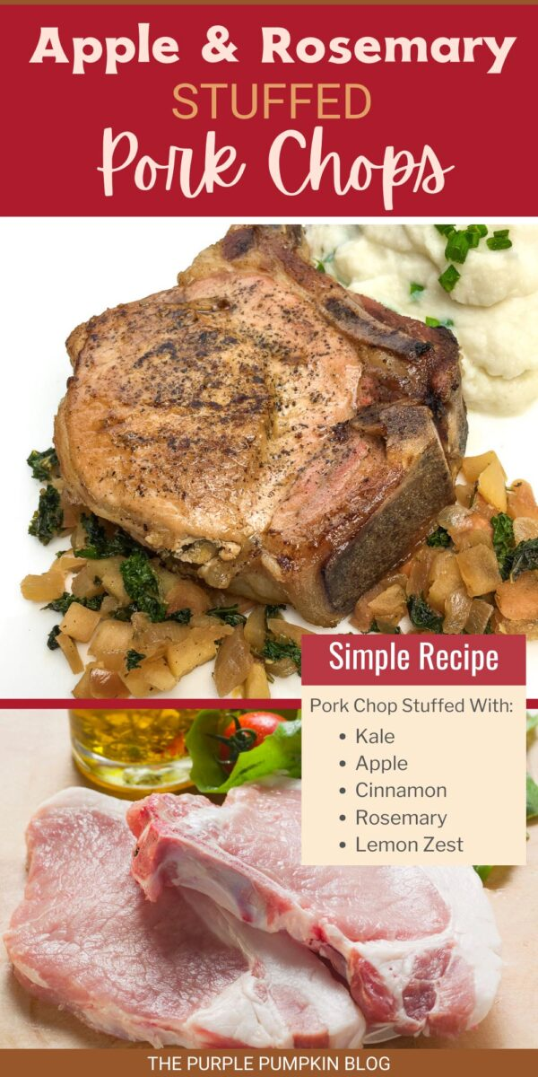 Recipe for Apple & Rosemary Stuffed Pork Chops