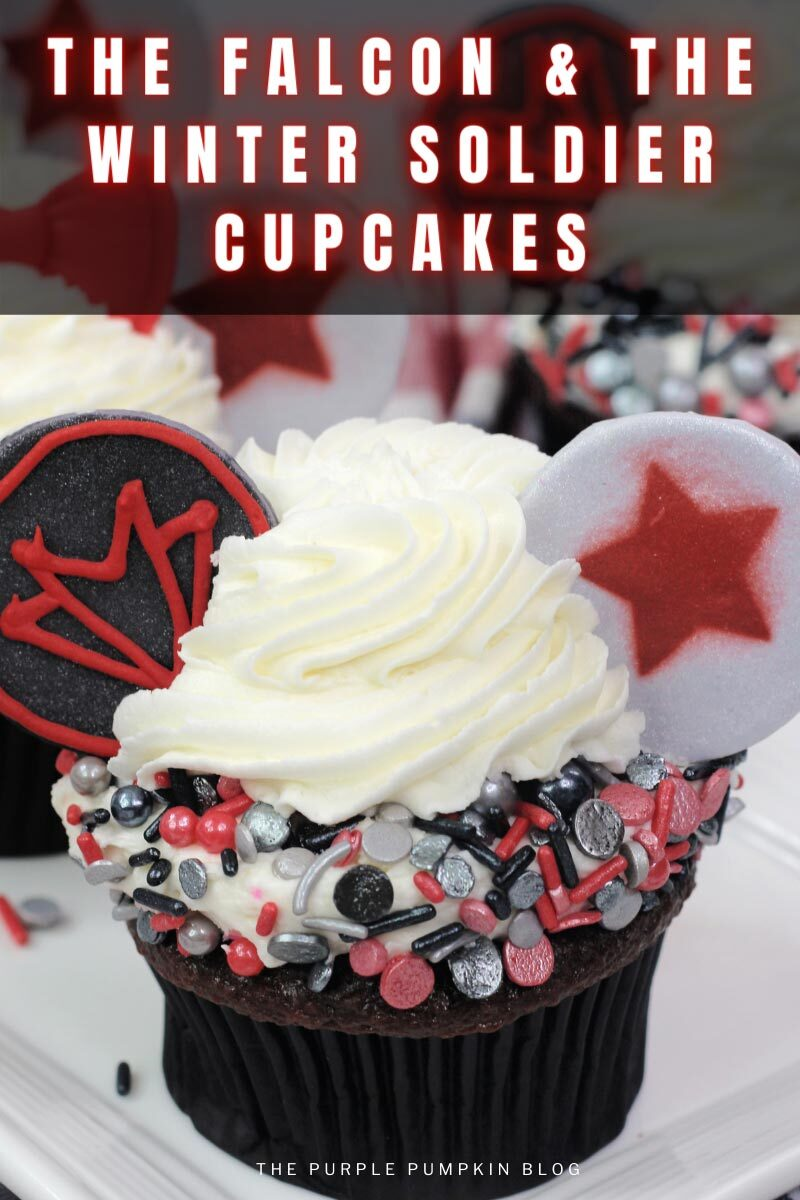 Recipe for The Falcon & The Winter Soldier Cupcakes