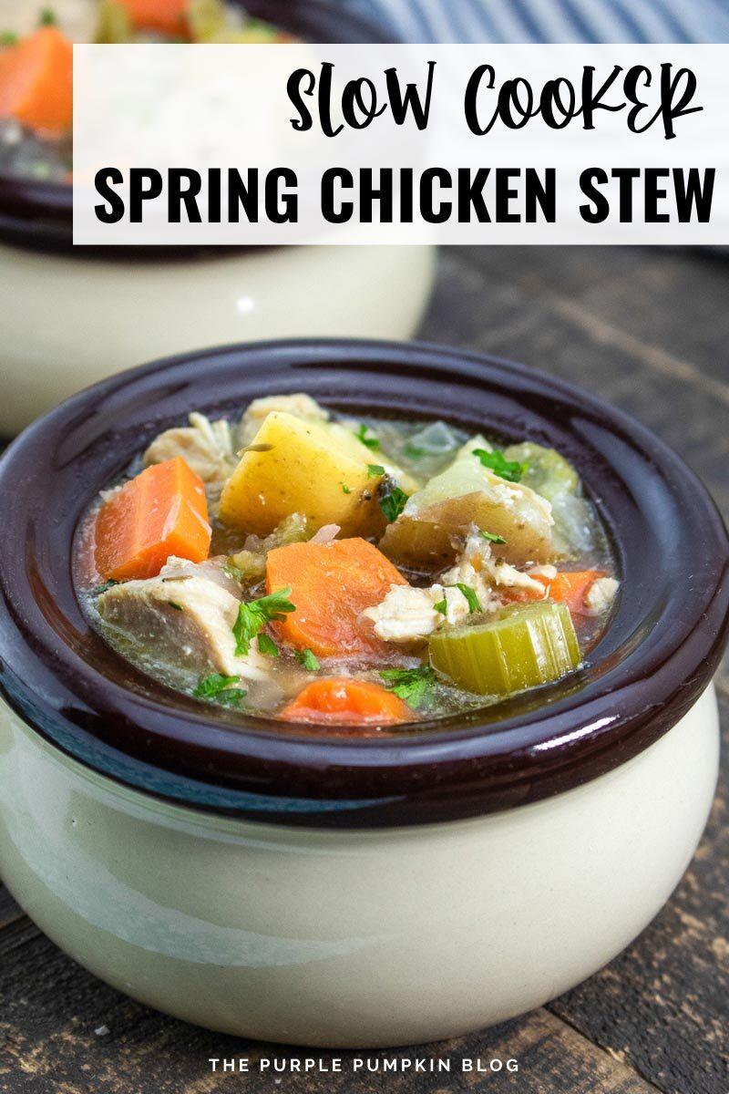 Slow Cooker Spring Chicken Stew
