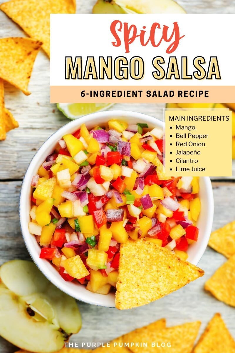 Spicy Mango Salsa with Just 4-Ingredients