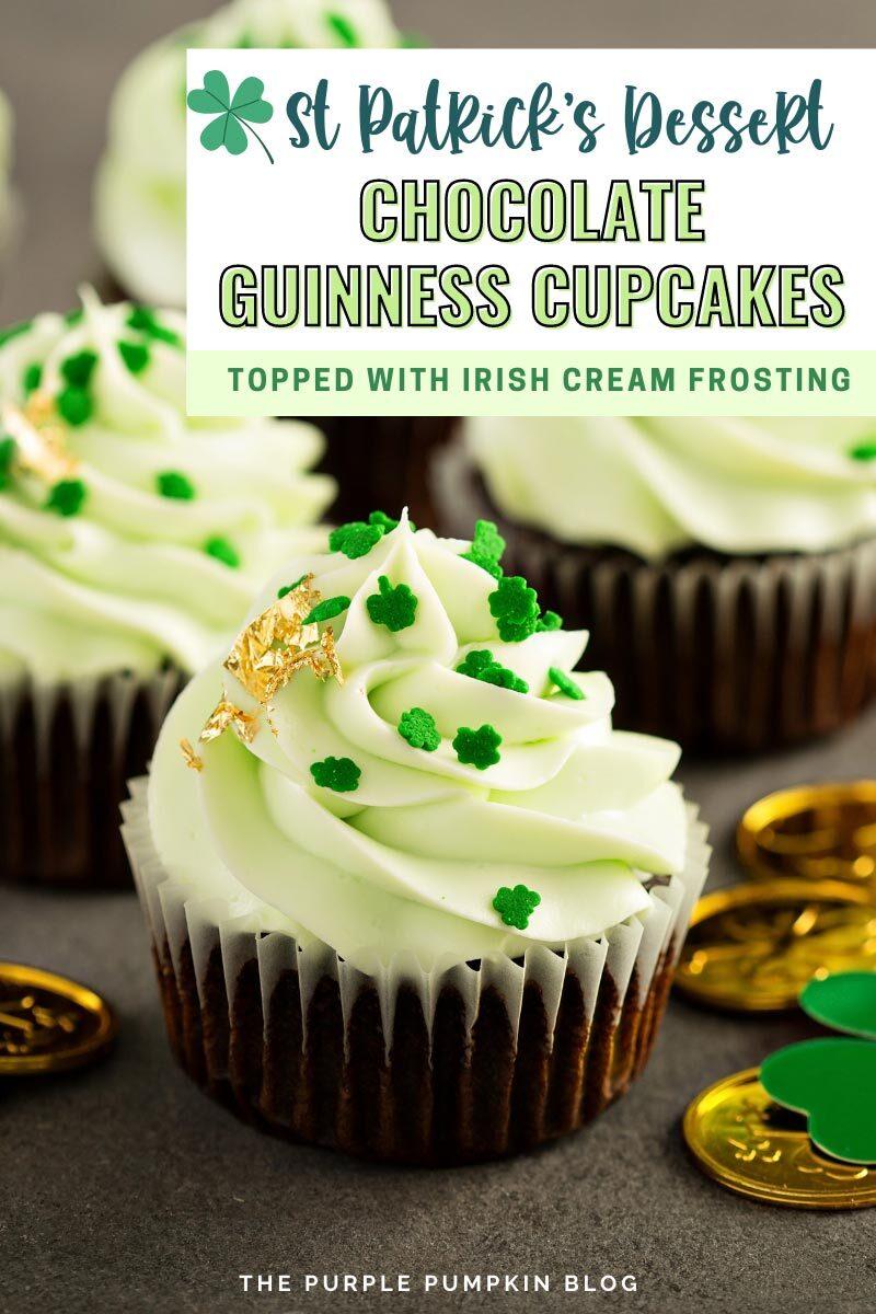 St Patrick's Dessert Idea - Chocolate Guinness Cupcakes