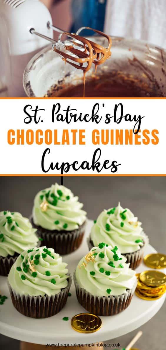 St. Patricks Day Chocolate Guinness Cupcakes