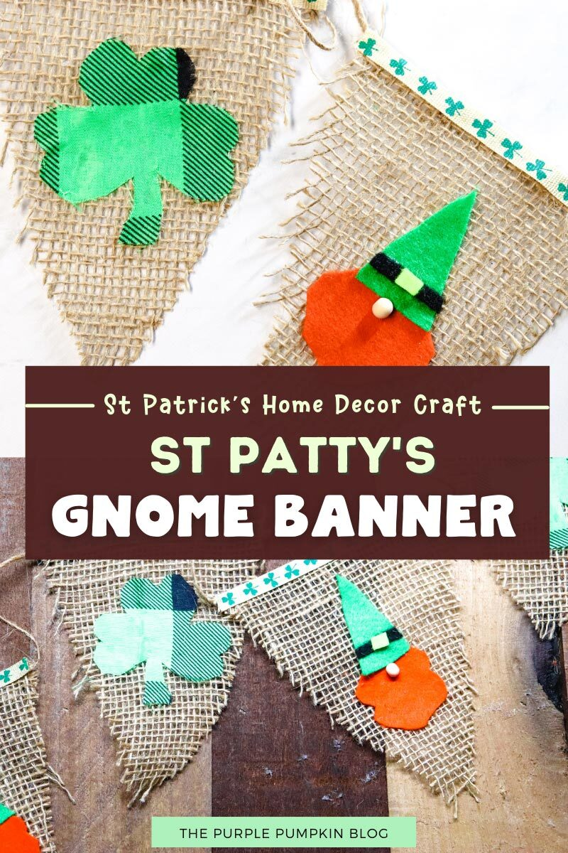 St. Patrick's Home Decor Craft - St Patty's Gnome Banner
