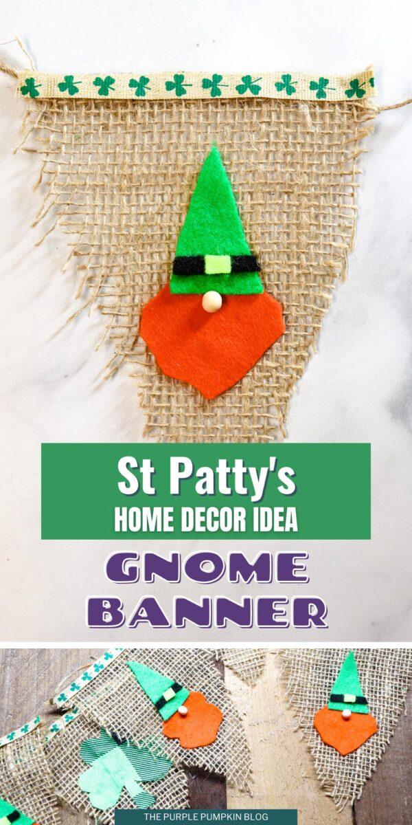 St. Patty's Gnome Banner Home Decor Idea