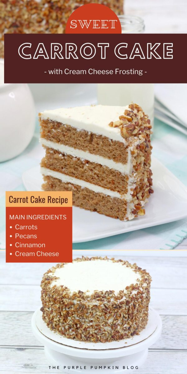 Sweet Carrot Cake with Cream Cheese Frosting