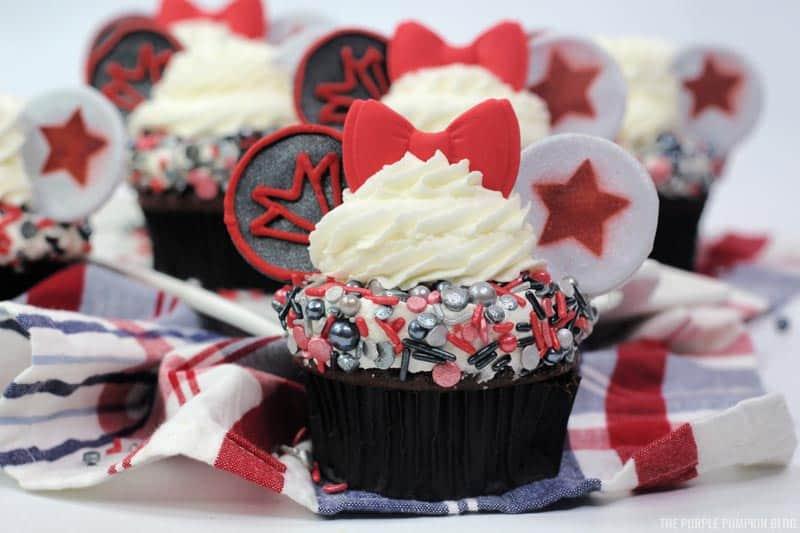 Winter Soldier Cupcakes & Falcon Cupcakes
