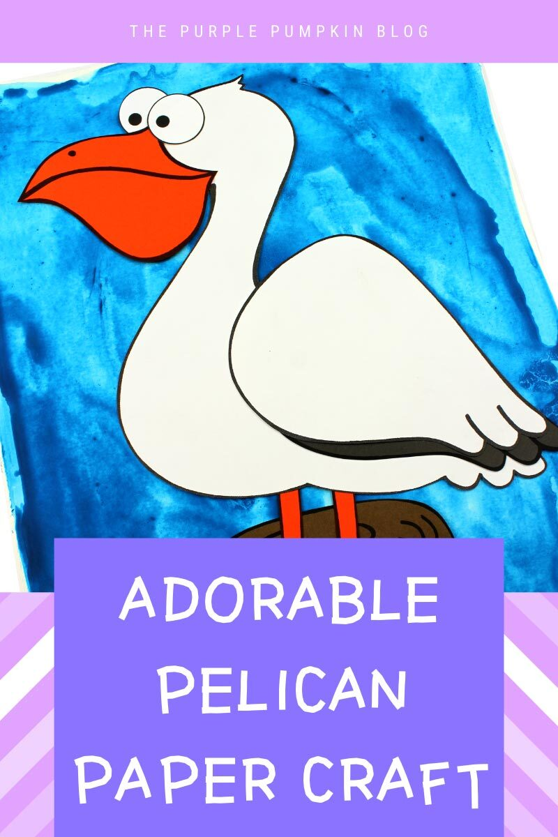 Adorable Pelican Paper Craft