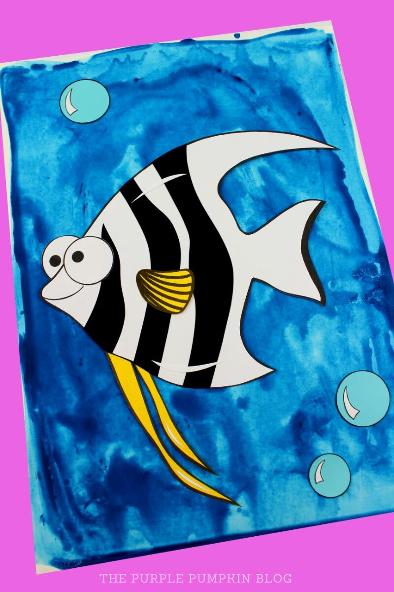 Angelfish Paper Craft for Kids