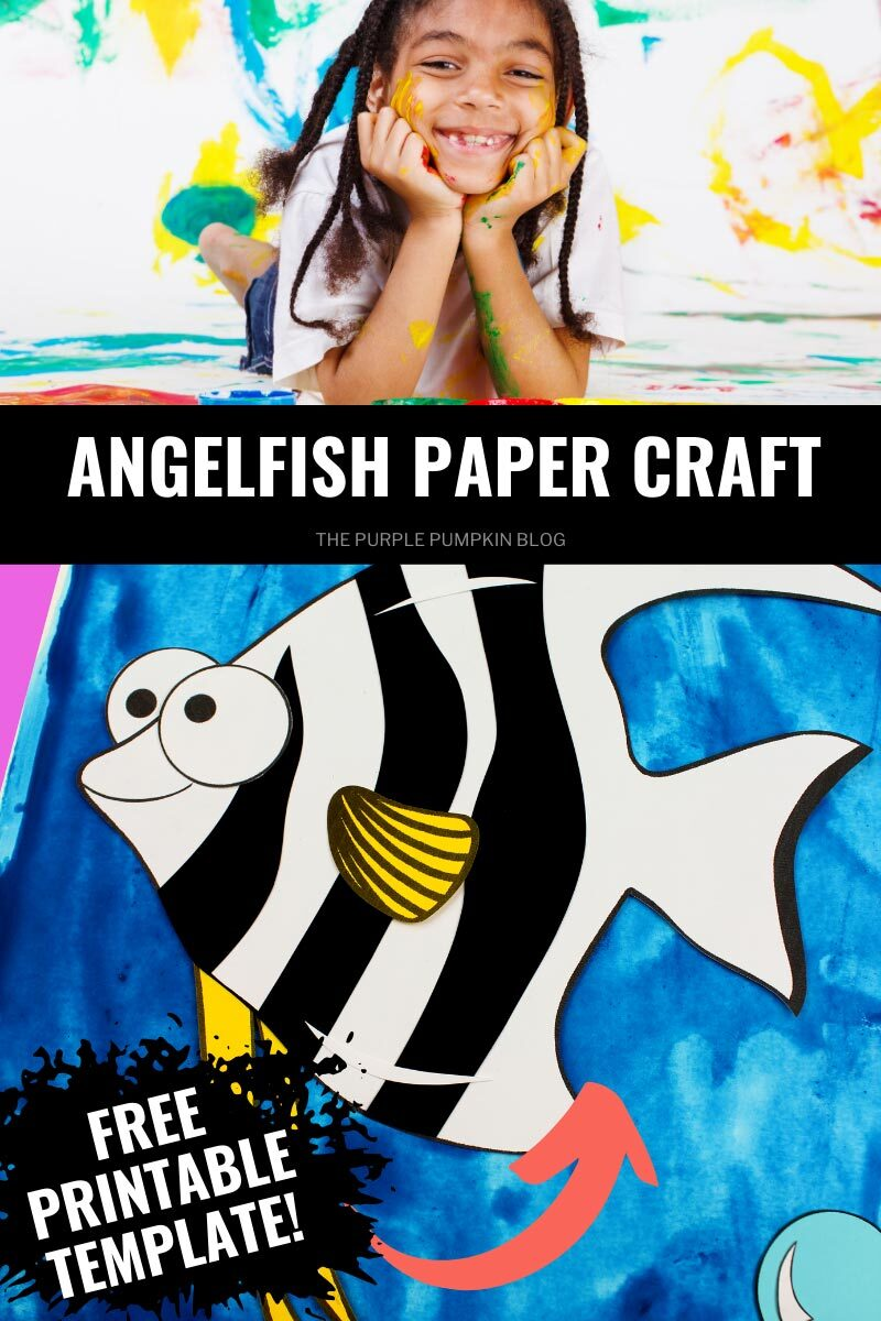 Angelfish Paper Craft with Printable Template