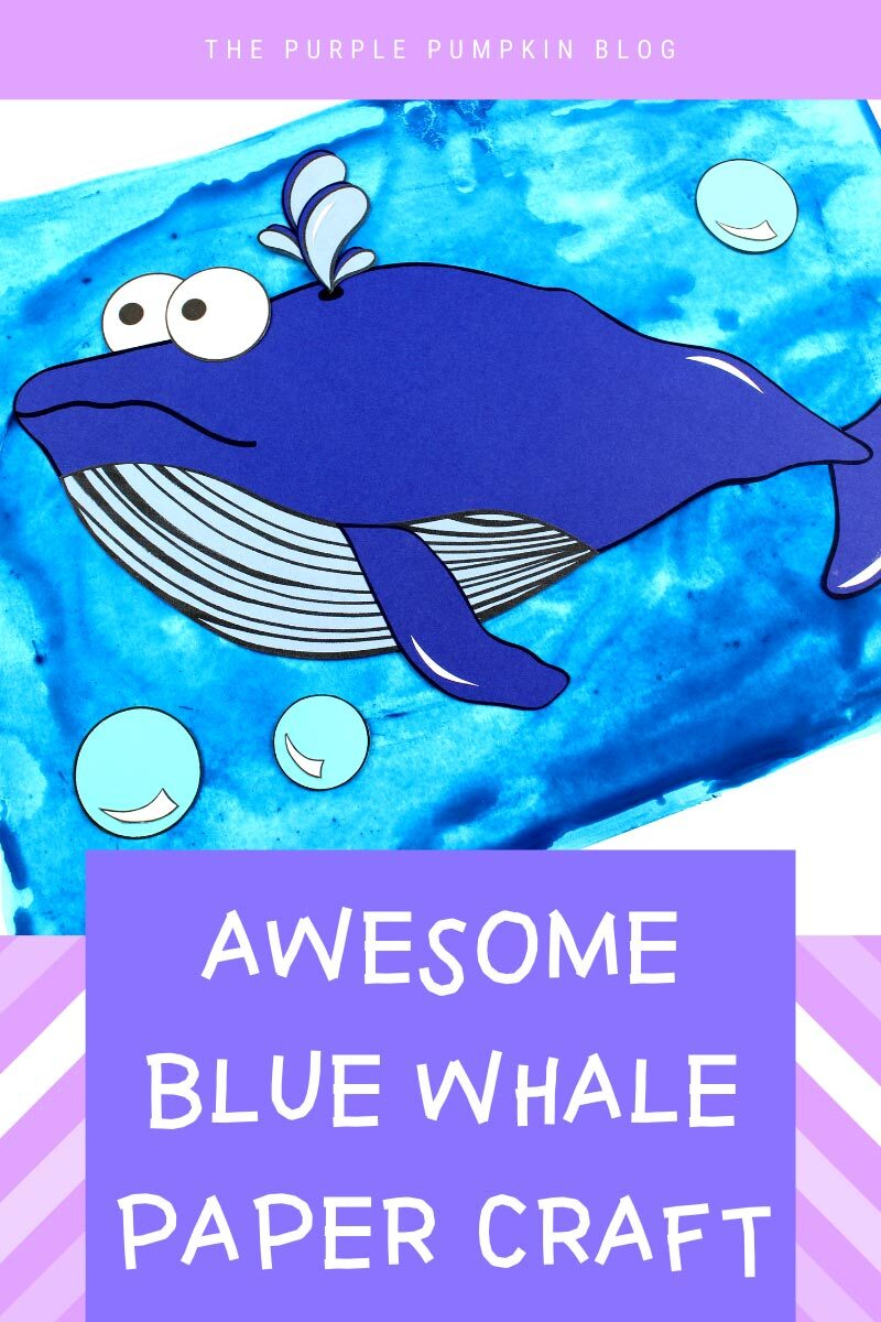 Awesome Blue Whale Paper Craft