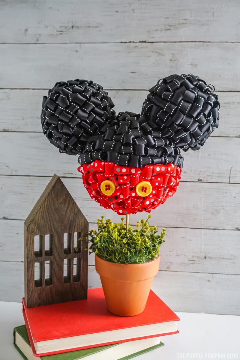 Awesome Mickey Mouse Ribbon Topiary