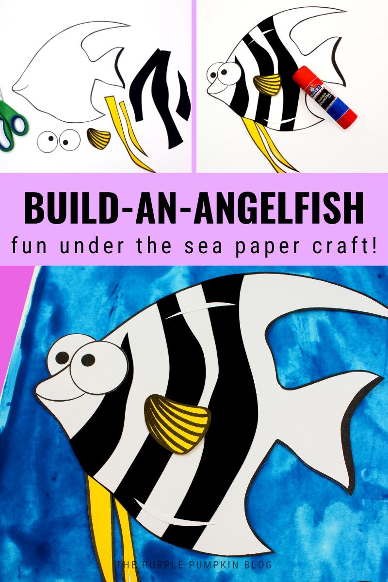 Build-An-Angelfish - Fun Under the Sea Paper Craft