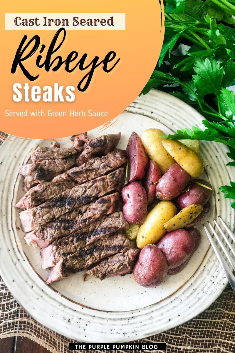 Cast Iron Seared Ribeye Steaks