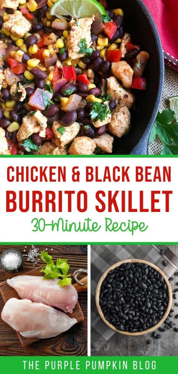 Chicken & Black Bean Burrito Skillet (30-Minute Recipe)