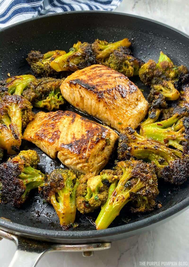 Chili Lime Mahi Mahi & Broccoli Skillet