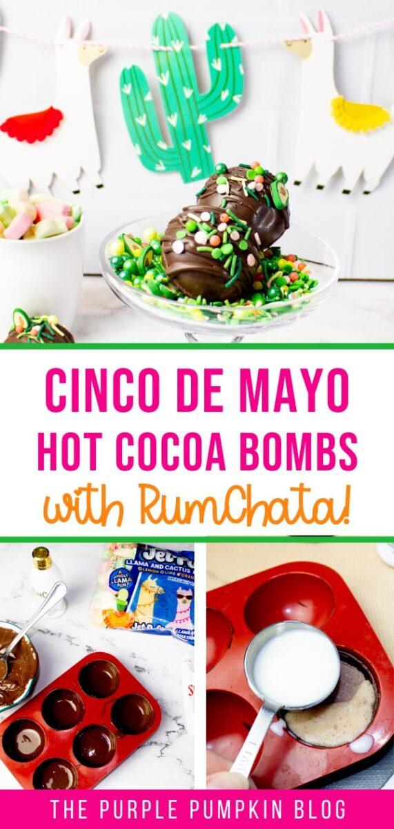 Cinco de Mayo Hot Cocoa Bombs with RumChata