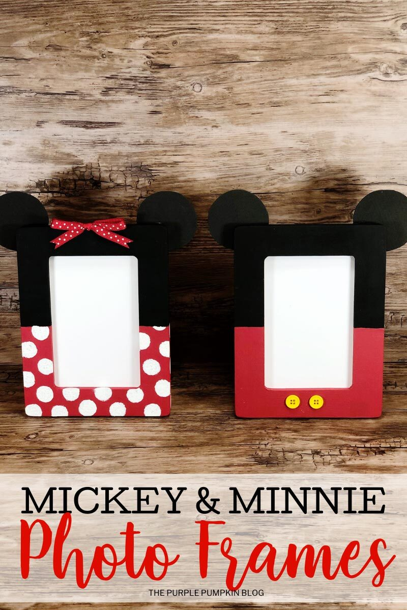 Craft Idea! Mickey & Minnie Photo Frames