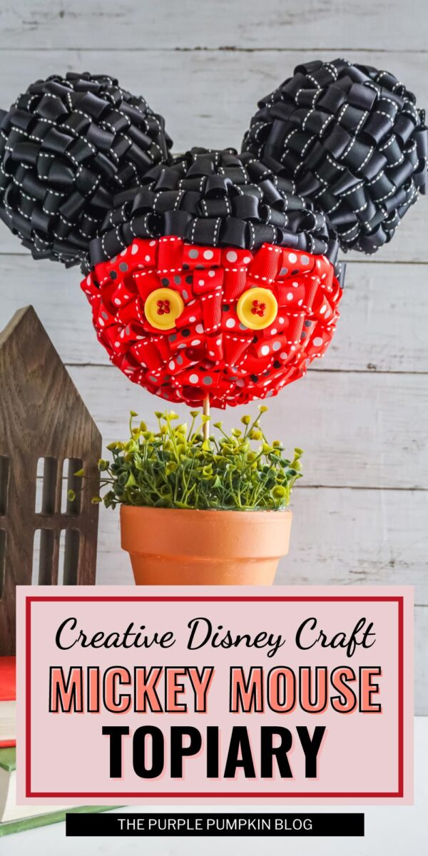 Creative Disney Craft - Mickey Mouse Topiary