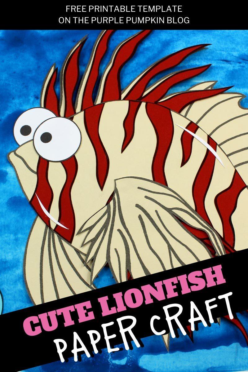 Cute Lionfish Paper Craft